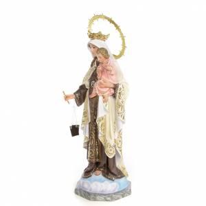 Statue in legno dipinto: Madonna del Carmelo 50 cm pasta di legno dec. elegante