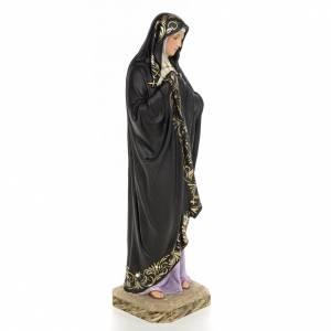 Statue in legno dipinto: Madonna della solitudine 50 cm pasta di legno dec. elegante