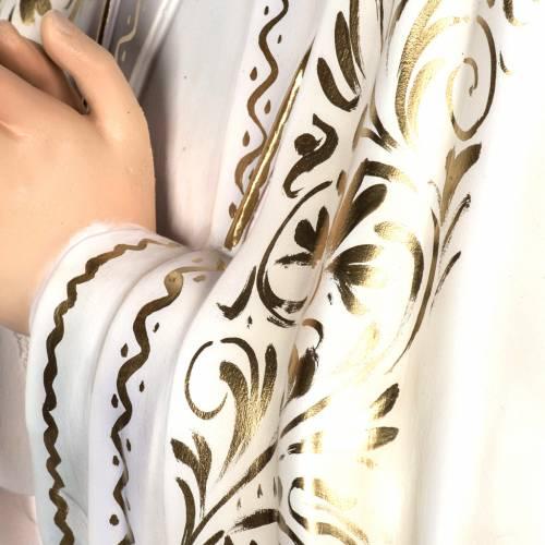 Madonna di Fatima 120 cm pasta di legno dec. elegante s5
