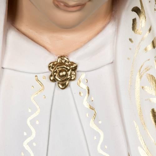 Madonna di Fatima 120 cm pasta di legno dec. elegante s8
