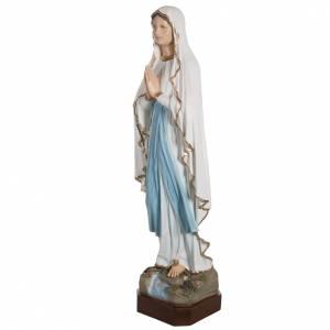 Madonna di Lourdes 130 cm marmo sintetico colorato s6