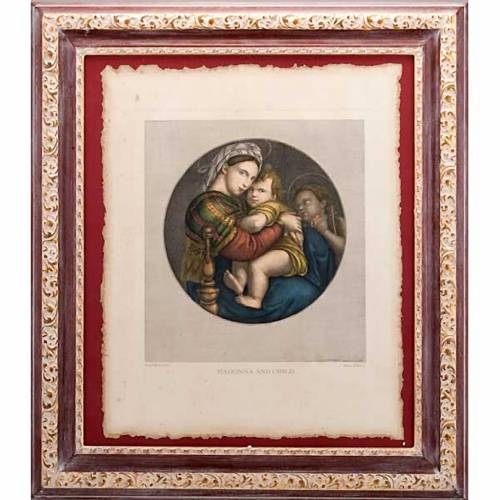 Madonna of the chair, Florentine print s1