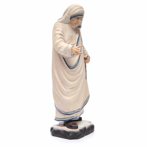 Madre Teresa di Calcutta in legno dipinto Val Gardena rosario s4