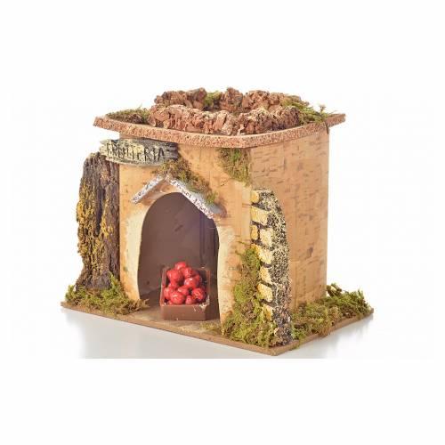 Magasin fruits en miniature crèche 15x10 cm s6