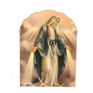 Magnets religieux: Magnet bois Vierge Miraculeuse