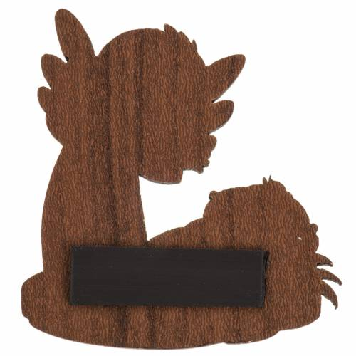 Magnete legno angelo Gesù bambino s2