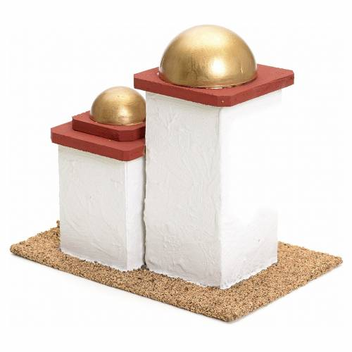 Maison arabe double en miniature pour crèche 14cm s3