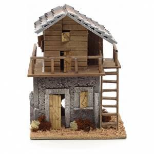 Maison de montagne en miniature pour crèche 20x20x27 s1