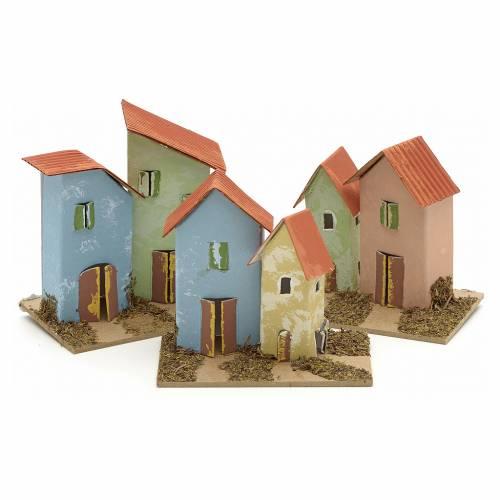 Maison en miniature pour crèche 10x6 cm s1