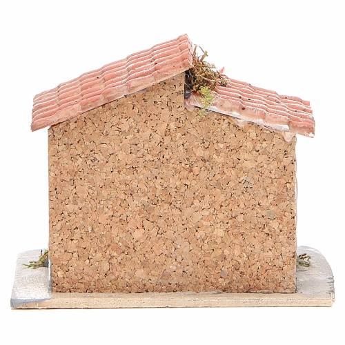 Maison liège et résine crèche napolitaine 15x15x11 cm s4