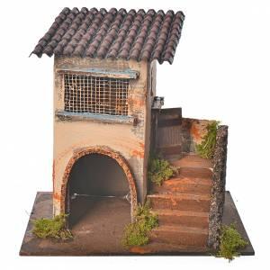 Maison orange avec escalier 20x12x19 cm s1