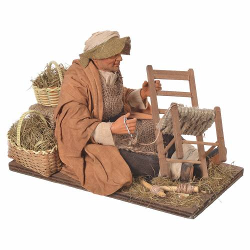 Man repairing chairs, 30cm Animated Neapolitan nativity s2