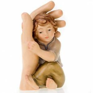 Imágenes de Madera Pintada: Mano de Dios que acoge un niño