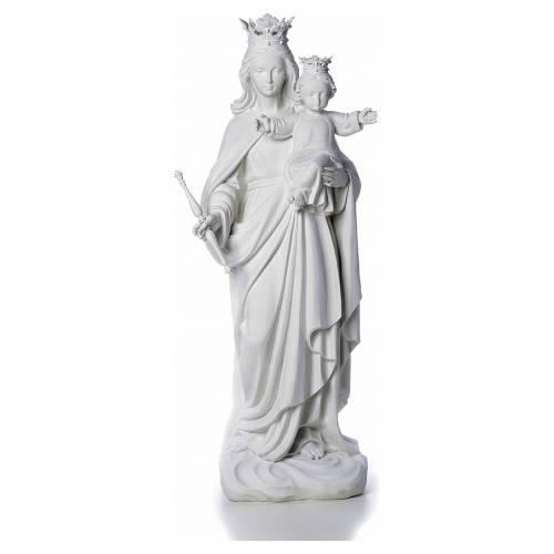 Maria Ausiliatrice cm 80 marmo bianco di Carrara s1