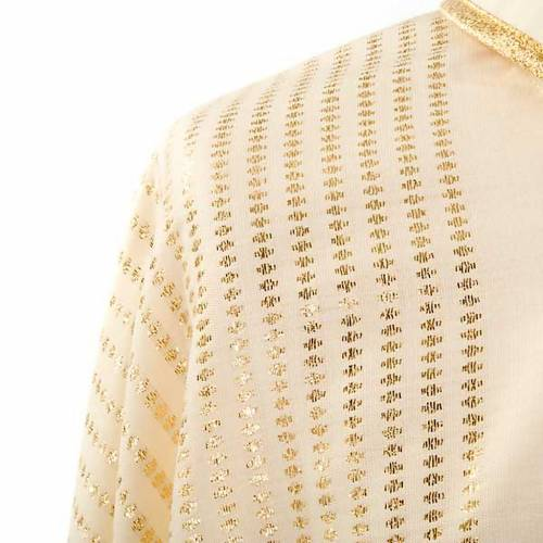 Marian chasuble in wool with metallic motifs s5