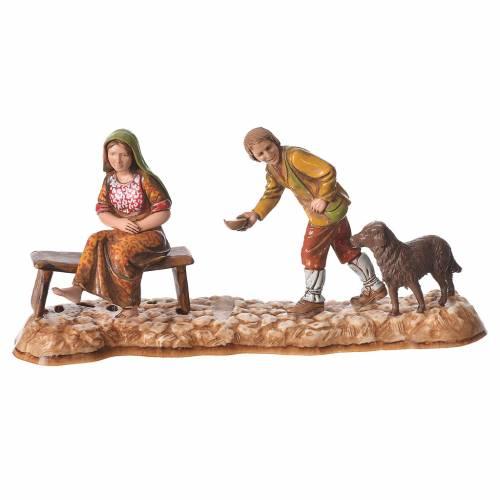 Market scene, nativity figurine, 10cm Moranduzzo, 2 pcs s3