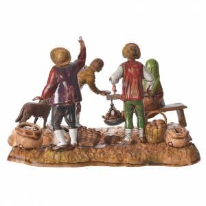 Market scene, nativity figurine, 10cm Moranduzzo, 2 pcs s4