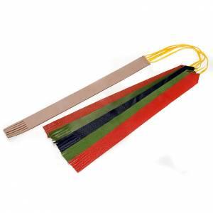 Marque page cuir pour Missel ou Lectionnaire 5 rubans s1
