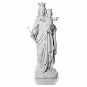 Reconstituted marble religious statues: Mary Help of Christians statue in reconstituted marble 80 cm
