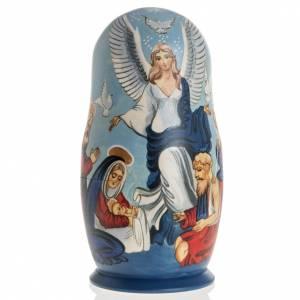 Matryoshka natività con angelo e 4 scene s1