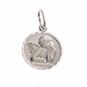 Medaglia argento 925 angelo 1,5 cm s1