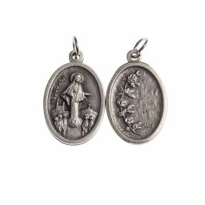 Medaglie: Medaglia Medjugorje ovale galvanica argento antico