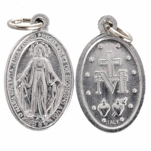 Medaglia Miracolosa alluminio argentato 12 mm s1