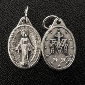 Medaglia Miracolosa ovale metallo argentato h 17 mm s2