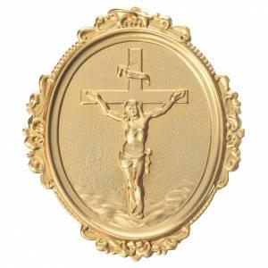 Medaglioni per confraternite: Medaglione per confraternite Croce con Cristo ottone