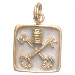 Médaille argent 800 Clés Vatican 1,5x1,5 cm s1
