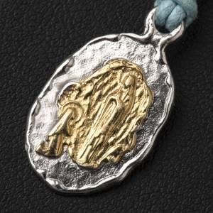 Médaille de Lourdes argent 800 bicolore s2