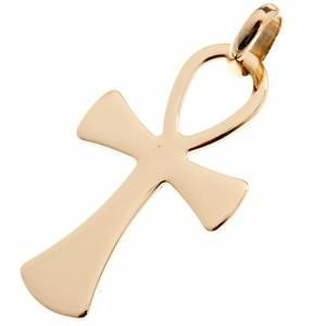 Anhänger, Kreuze, Broschen: Medaille Kreuz des Lebens Gold 750/00 - 2,00 Gramm