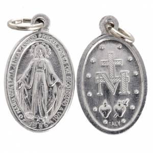 Médaille Miraculeuse aluminium argentée 12 mm s1