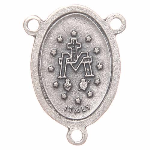 Médaille ovale chapelet Vierge Miraculeuse 2,4 cm s2