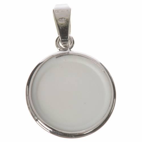 Médaille ronde argent 18mm Madonnina Ferruzzi s2