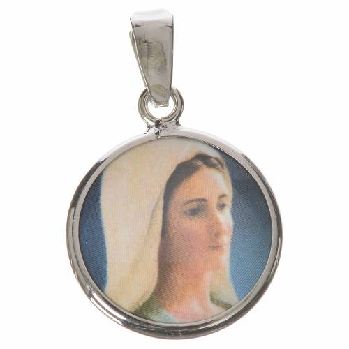 Médaille ronde argent 18mm Medjugorje s1