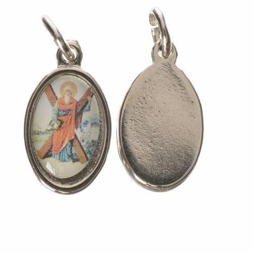 Médaille Saint André métal argenté 1,5cm s1