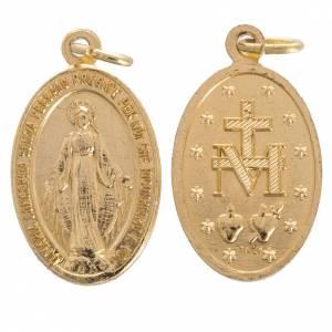 Medaillen: Medaille Wundertätige Madonna Goldaluminium 16 mm