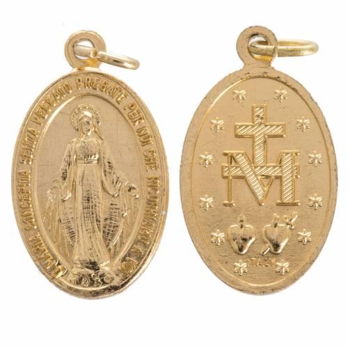Medaille Wundertätige Madonna Goldaluminium 16 mm s1