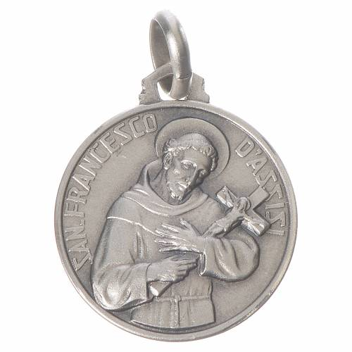 Medal of Saint Francis 925 Silver s1