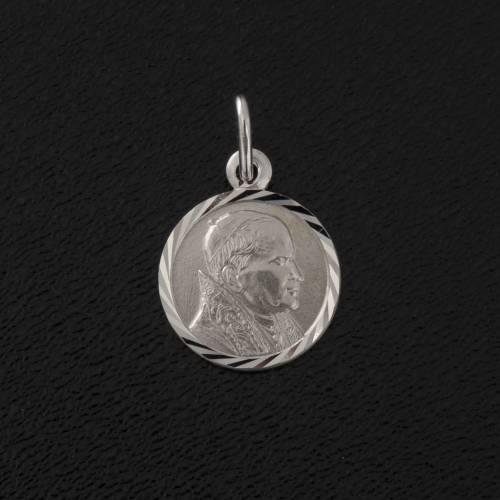 Medal Pope John Paul II, sterling silver, diam. 1cm s2