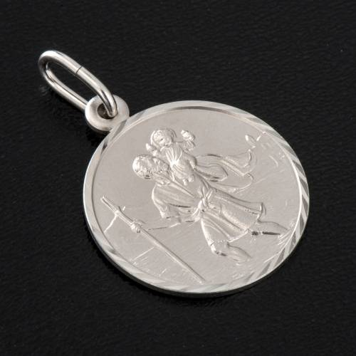 Medalla San Cristóbal, plata 925 2
