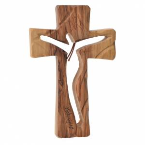 Crosses and magnets: Medjugorje Cross in olive wood measuring 13x8cm
