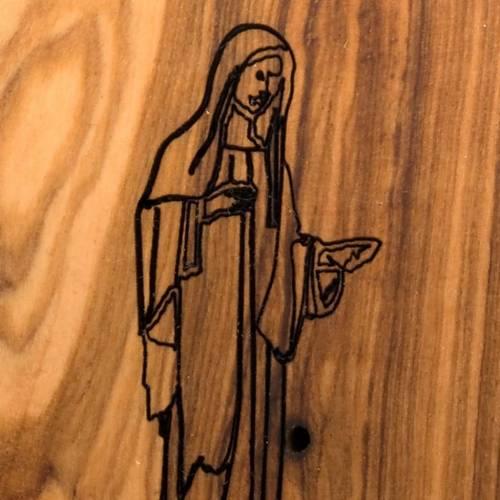 Medjugorje olive wood magnet s3