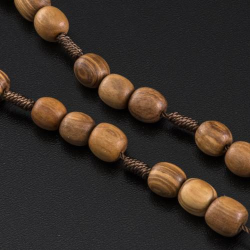Medjugorje Peace chaplet in olive wood s4
