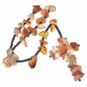 Rosaries and rosary holders: Medjugorje rosary beads with amber hard stones.