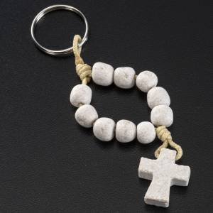 Bracelets, peace chaplets, one-decade rosaries: Medjugorje single-decade keyring, stone