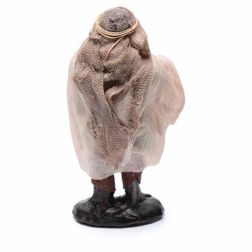 Mendicante anziano 8 cm presepe napoletano s2