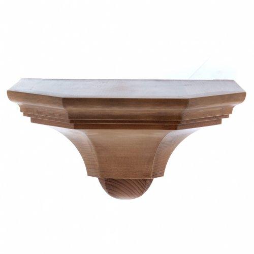 Mensola parete gotica 22x27 legno patinato s1