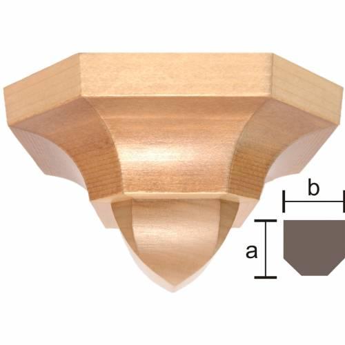 Mensola stile gotico 12x14 legno multipatinato s1